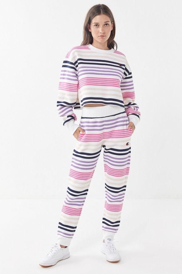 1e8b64e36062 Champion UO Exclusive Striped Cropped Sweatshirt   Trend FW19 ...