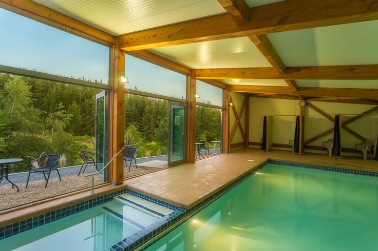 A modern structure for an indoor pool created an appealing environment for swimming lessons.