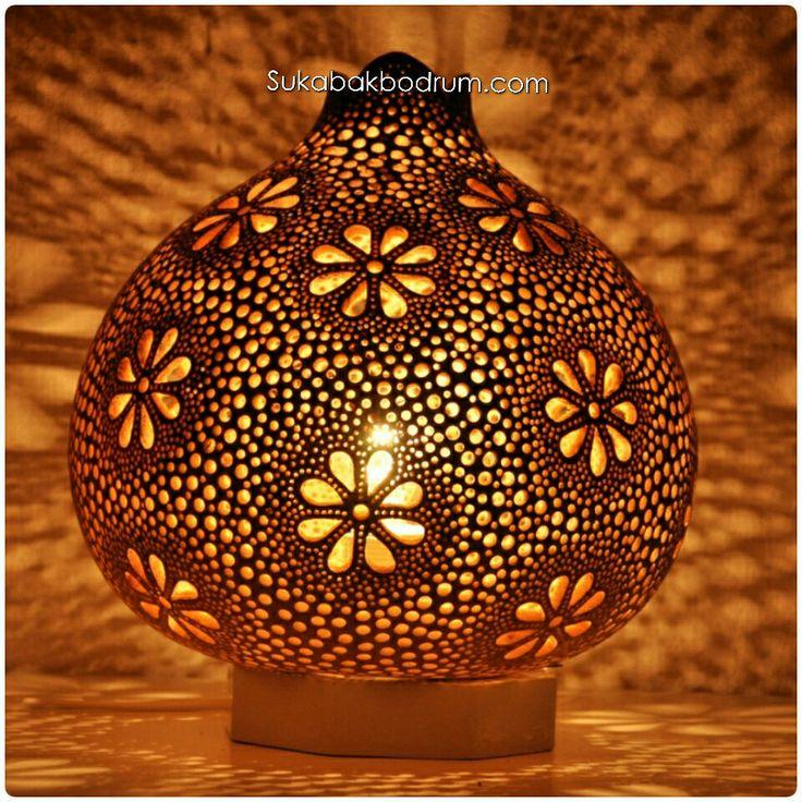 Flowers gourd lamp