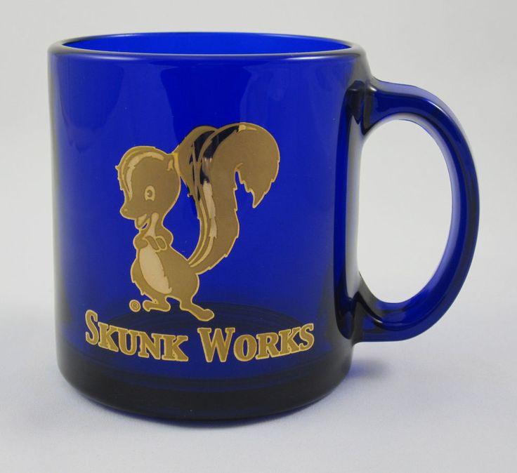 Skunk Works Coffee Mug Cobalt Blue Lockheed Martin ADP Aviation Engineering U-2