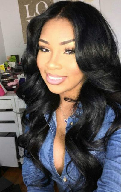 "24"" Wavy Long Wigs For African American Women The Same As The Hairstyle In The Picture - Human Hair Wigs For Black Women"