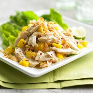 Mango Chicken Salad with Coconut From Better Homes and Gardens, ideas and improvement projects for your home and garden plus recipes and entertaining ideas.