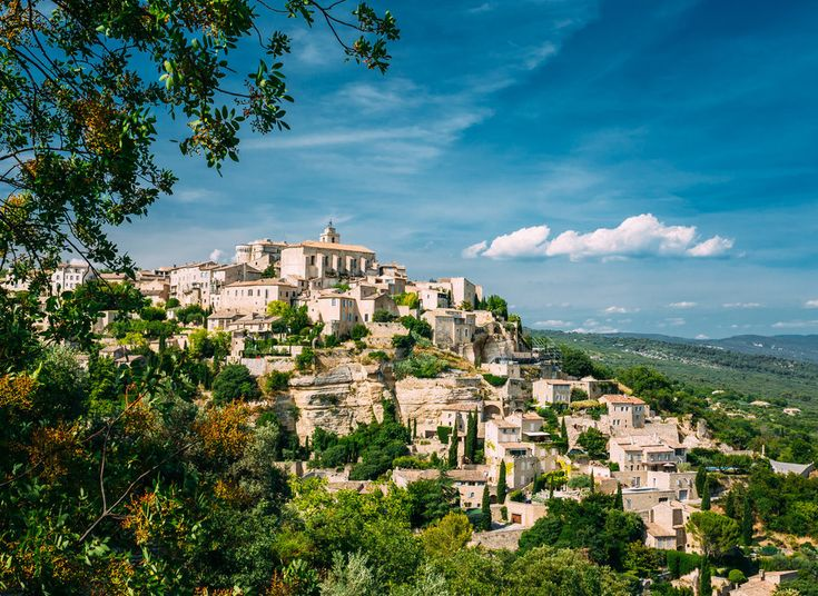 Gordes,France tree sky Town Nature hill Village residential area cityscape landscape rural area aerial photography overlooking hillside