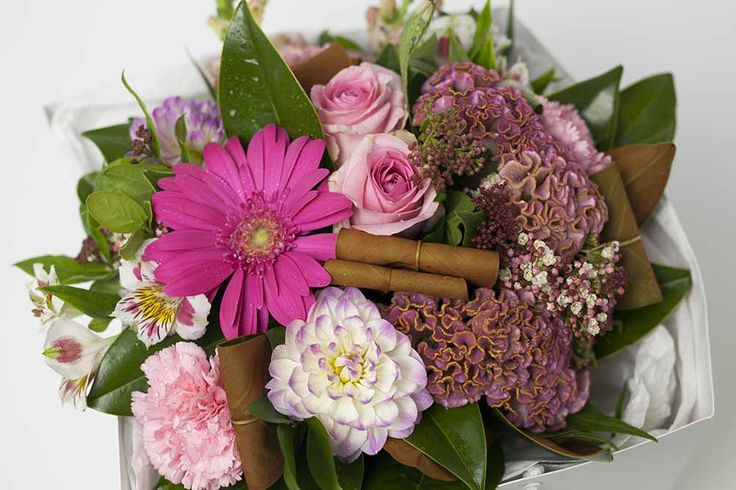 Pink Flower Box - Expressions Florist Cambridge NZ