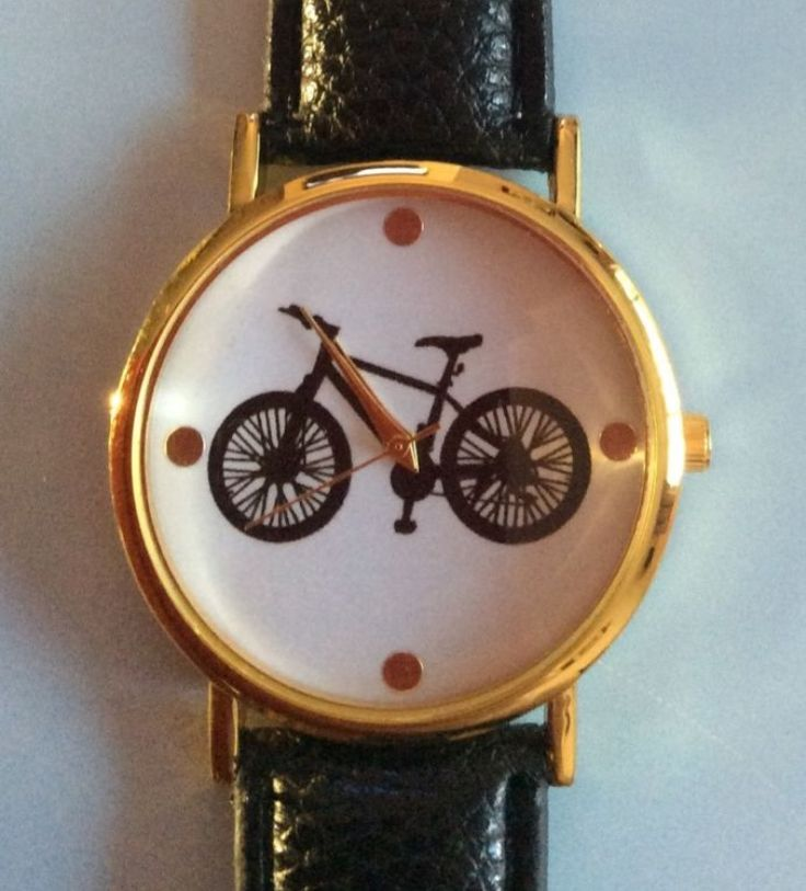 Black Faux Leather Strap Bicycle Watch #jewellery #accessories #black #fauxleather #leather #strap #watches #watch #wrist #wristwatch #bicycle #cycling #exercise http://m.ebay.co.uk/itm/Black-Faux-Leather-Strap-Quirky-Wrist-Watch-Bicycle-Bike-Xmas-/282291438246?nav=SELLING_ACTIVE