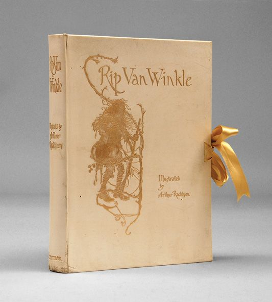 Deluxe first edition of Arthur Rackham's Rip Van Winkle, published in 1905.