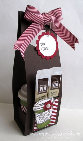 December 10, 2013  My Stamping Ground: Mini Coffee Cup & Holder Tutorial
