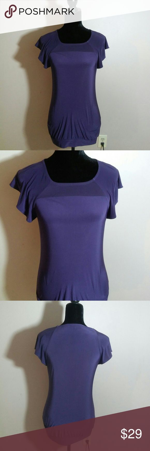 """The Limited Womens Small Cap Sleeve Top EUC Like-new condition, made in Vietnam, Body: 94% polyester and 6% spandex, Trim: 100% polyester, RN: 54874, 16"""" across and 23"""" in length The Limited Tops Blouses"""