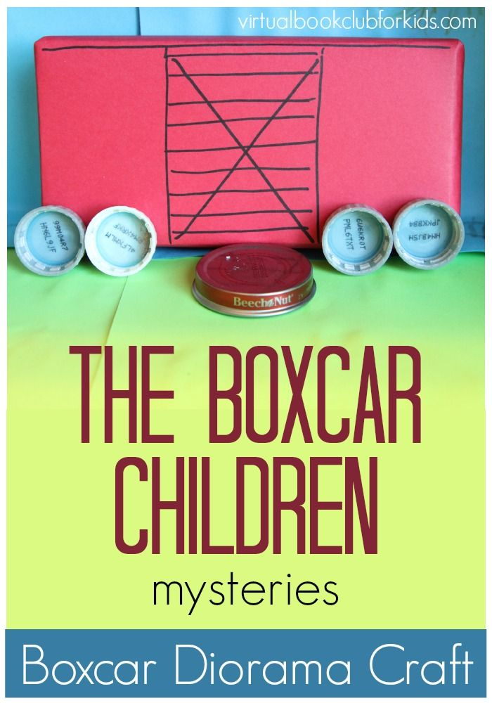 Boxcar children diorama craft inspired by The Boxcar Children Book #1 by Gertrude Chandler Warner
