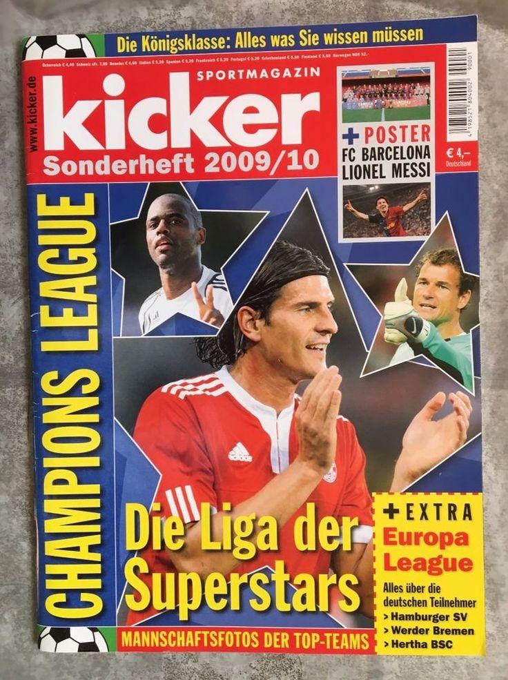 """kicker!Sonderheft 2009/10!CHAMPIONS LEAGUE """" Die Liga der Superstars """" !NEU!"""