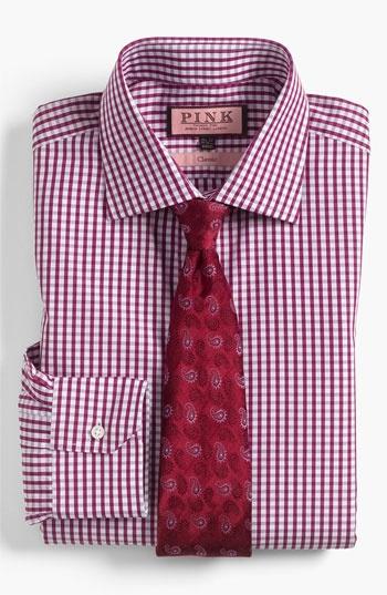 Thomas Pink Dress Shirt & Tie | Nordstrom