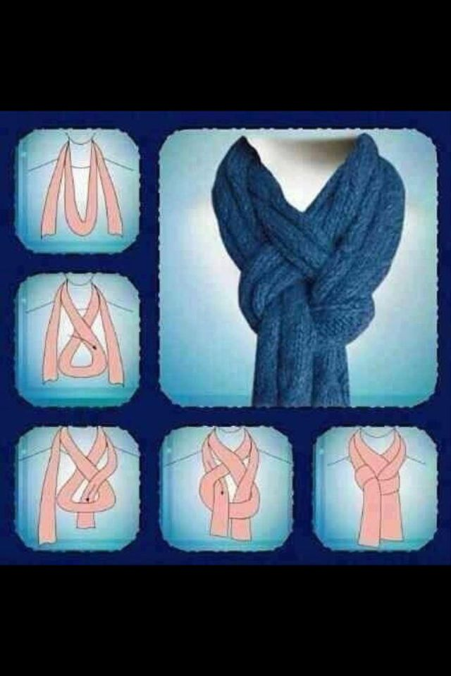 Élégante façon de nouer une longue écharpe