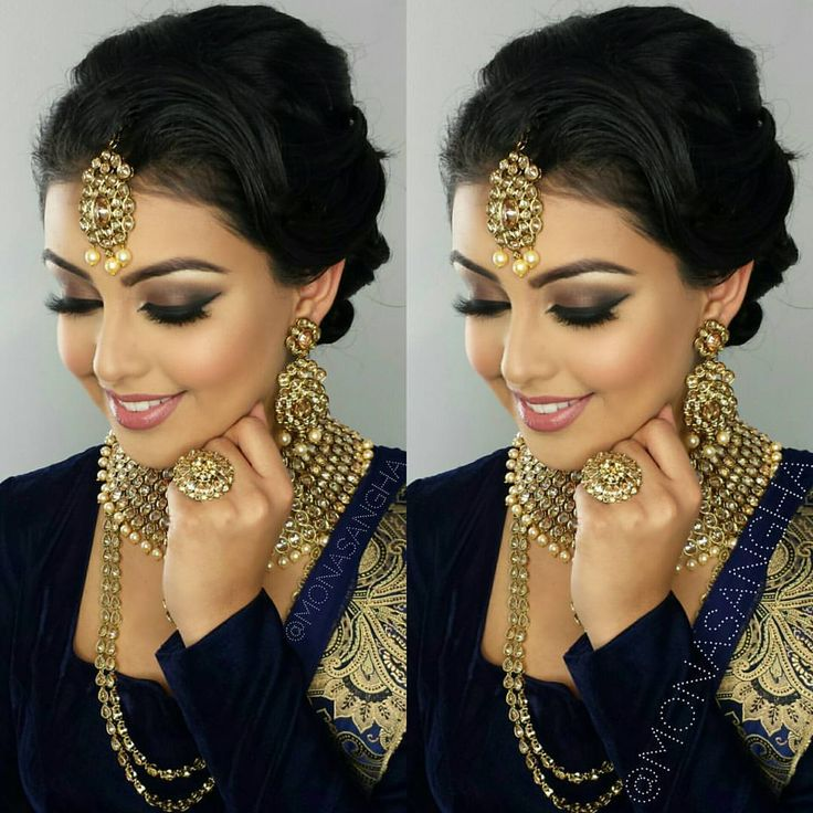 Very Simple Make Up For Indian Bride