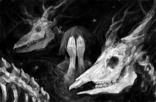 Illustration art horror gore alone manga horror manga mangacap ana mia guro…
