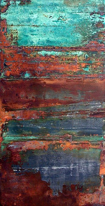 Rust and turquoise...oooohhhh, if I could paint a piece of furniture to replicate these colors/patina