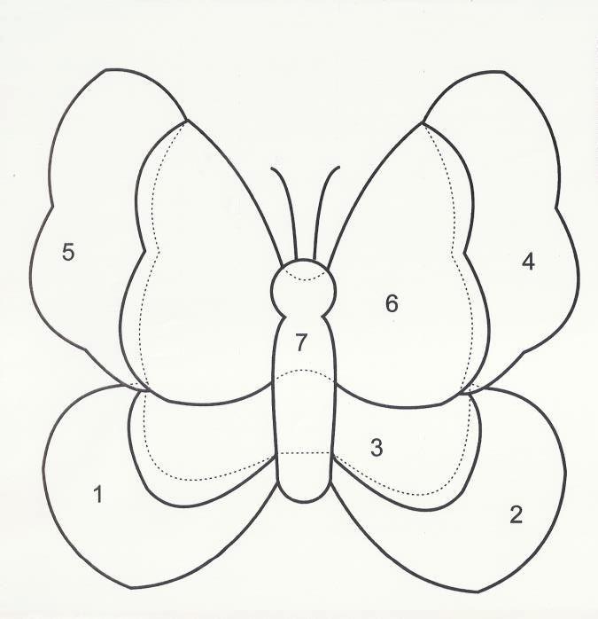 Mariposa Aplicacion Patrones Patch Pinterest