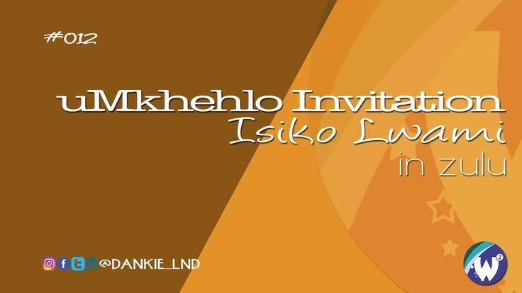 Mkhehlo Invitation Simple