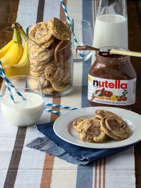 Nutella Banana Cream Pie Cookies