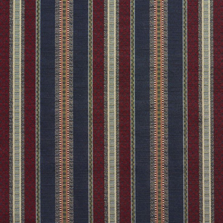 The K2098 NAVY STRIPE upholstery fabric by KOVI Fabrics features Country or Lodge or Cabin, Stripe pattern and Burgundy or Red or Rust, Dark Blue, Dark Green as its colors. It is a Tapestry type of upholstery fabric and it is made of 70% Polyester, 30% Cotton material. It is rated Exceeds 45,000 Wyzenbeek Rubs which makes this upholstery fabric ideal for residential, commercial and hospitality upholstery projects. This upholstery fabric is 54 Inches inches wide and is sold by the yard in…