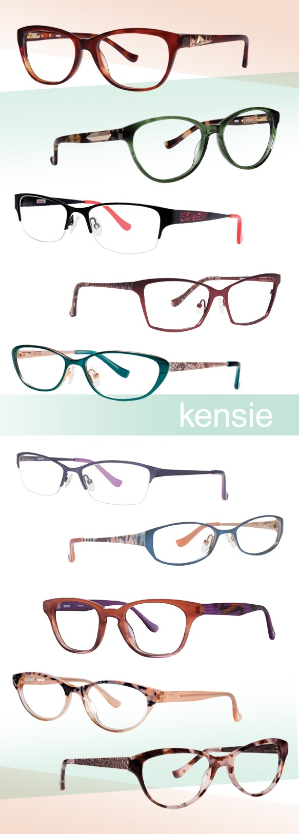 Kensie girls frames are fun and cute and playful. Available now at Grbevski & Associates