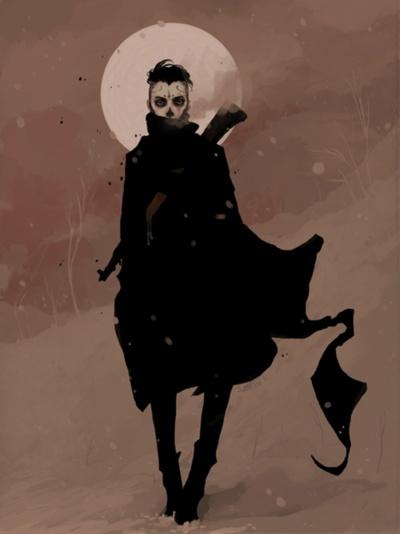 : Moon, Samantha Mashed, Dead December, Illustrations, Capes, Art, Posts, Black, Combat Boots