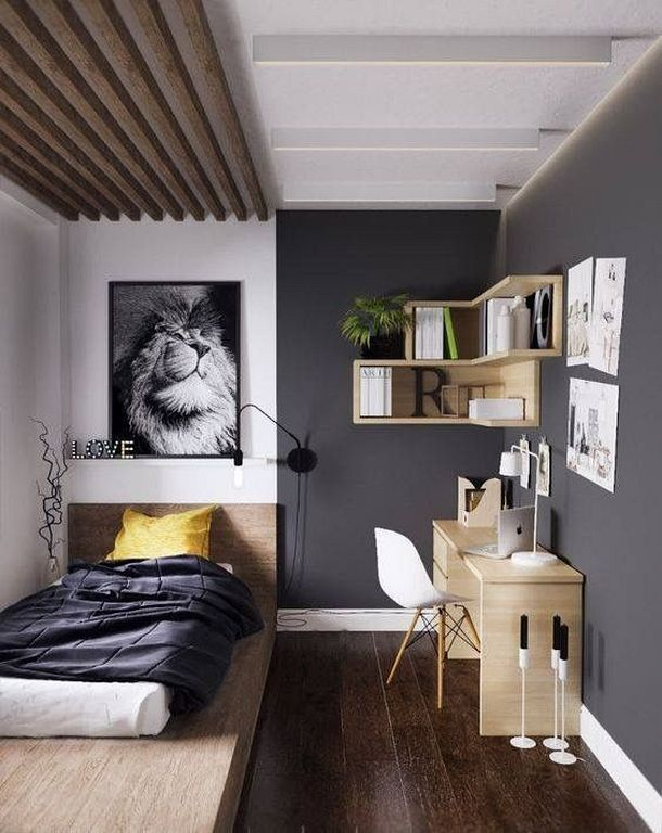 20 Gorgeous Small Kids Bedroom Ideas With Study Table 87designs Small Room Design Small Apartment Bedrooms Minimalist Bedroom Decor