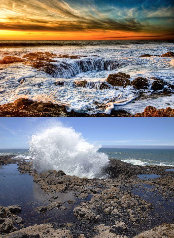 Thor's Well on the coast of Oregon.