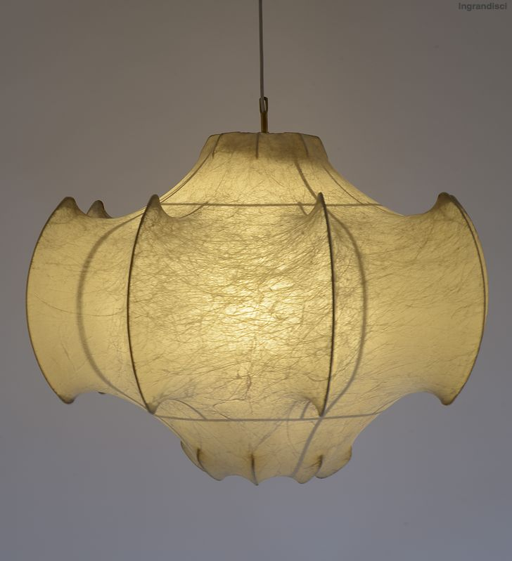 Achille and Piergiacomo Castiglioni; Steel and Resin 'Viscontea' Ceiling Light for Flos, 1960.