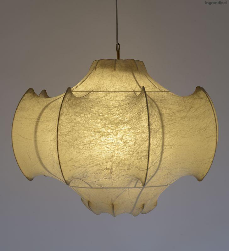 Achille and Piergiacomo Castiglioni; Steel and Resin 'Viscontea' Ceiling Light for Flos, 1960.