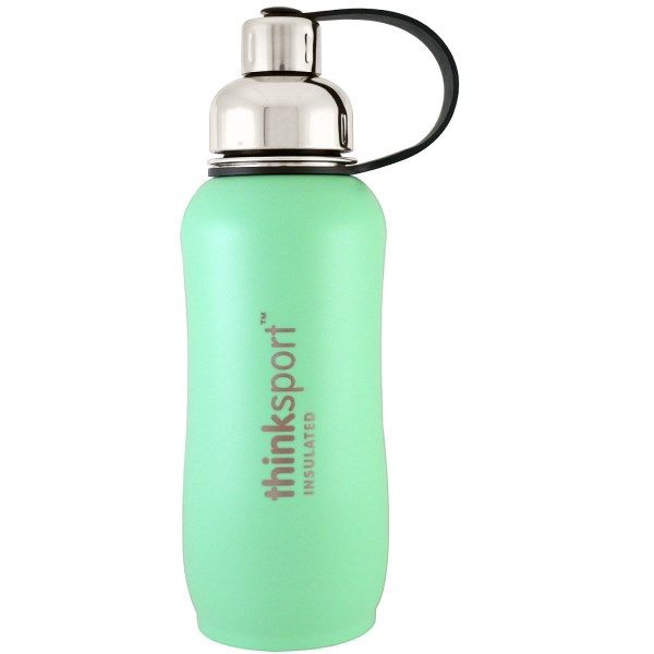 sports-fitness-athletic: Think, Thinksport, Insulated Sports Bottle, Mint G...