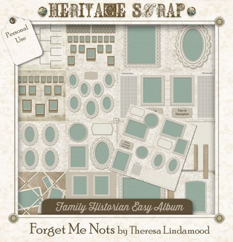 52 Best Family Tree Heritage Scrapbooking Templates Projects