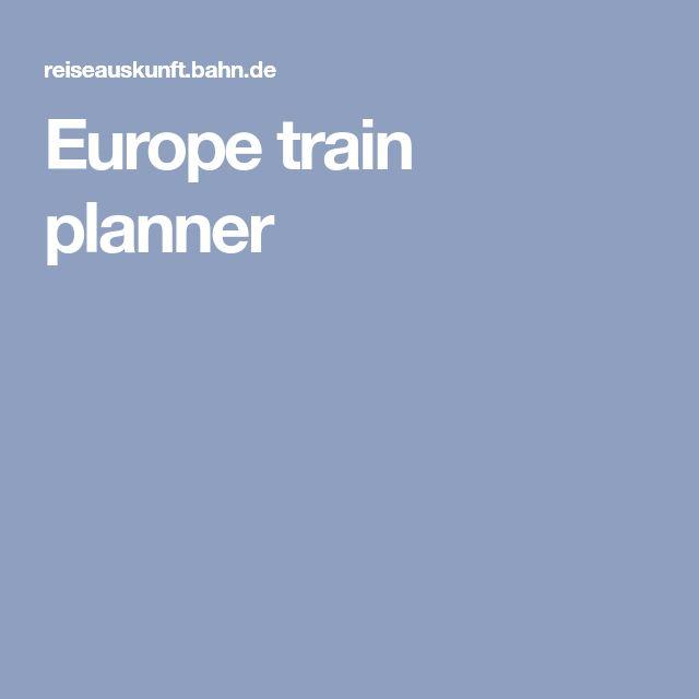 Europe train planner