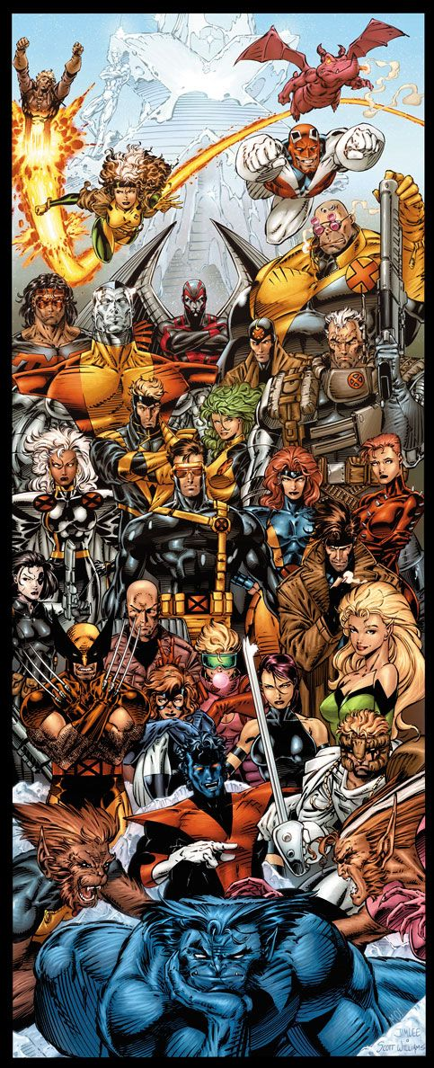 X-men was the first series I really started to follow.  Drama, action, adventure, all mixed into one.  In recent years I've found there are simply too many x-books to follow ( it went from 2 when I was younger to about 6 now)  but the core books remain the same.