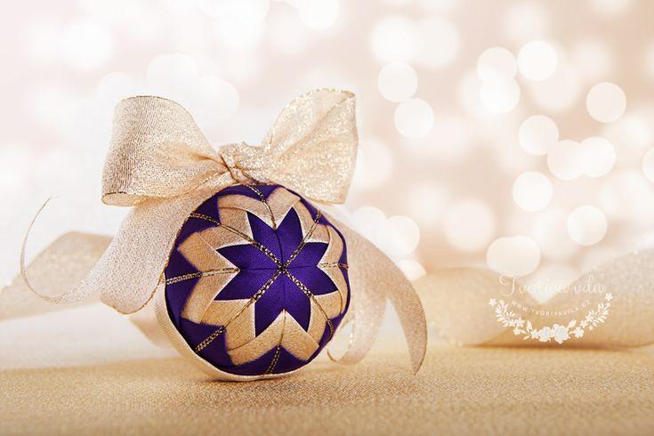 Falešný patchwork - vánoční ozdoby vlastní výroby