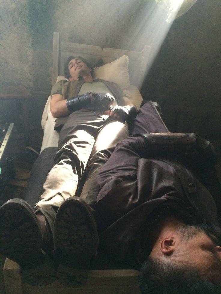 Shannara on MTV @Shannara   A double Druid sleep caught behind-the-scenes on set of #Shannara! @marcus_vanco @manubennett