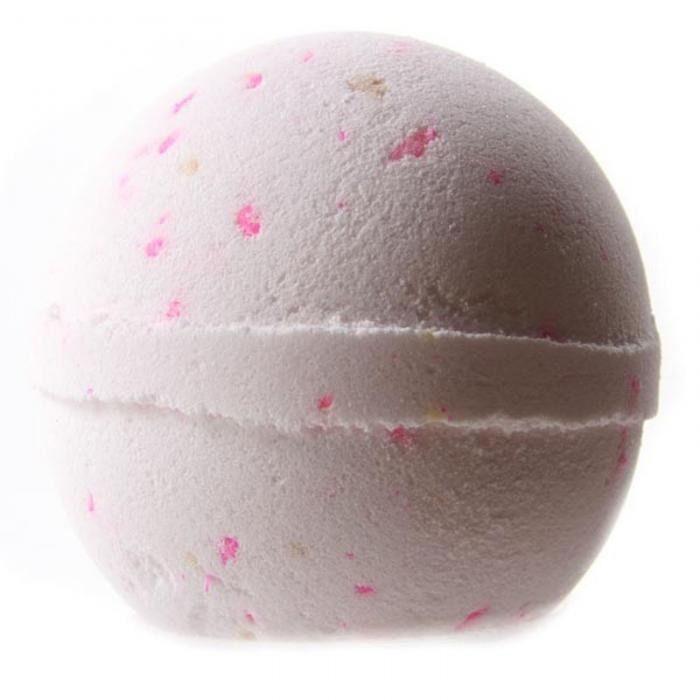 Bombe de bain artisanale 200 g parfum coco & pétales de rose : Soin, bien-être par perles-de-filles