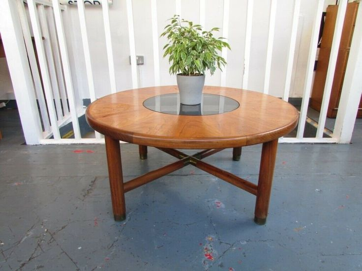 1960s Circular Starburst Teak Coffee Table By G Plan Vintage