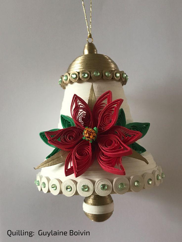 Cloche de Noël en quilling - Quilled Christmas bell - 05-2017