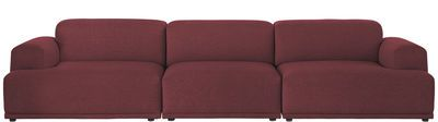 Connect Straight sofa - 3 modules - W 326 cm Burgundy by Muuto - Design furniture and decoration with Made in Design