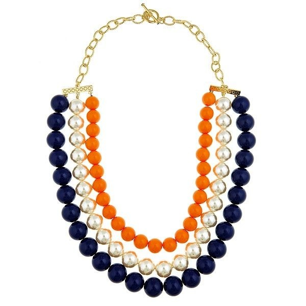Auburn Necklace with Pearls. Perfection