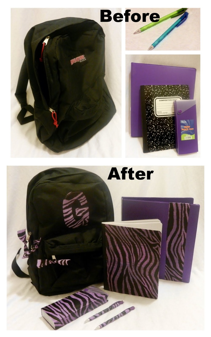 Personalized School Supply Set by A Couple of Craft Addicts {guest post} | |