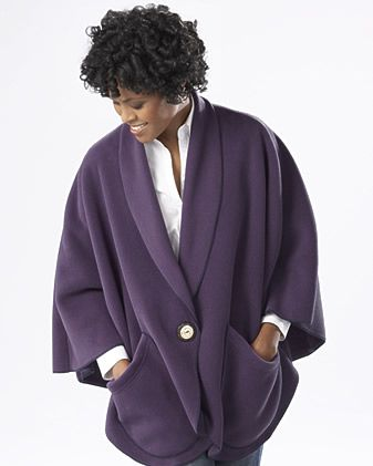 Pocket Cape w Button - this is the best style for elderly