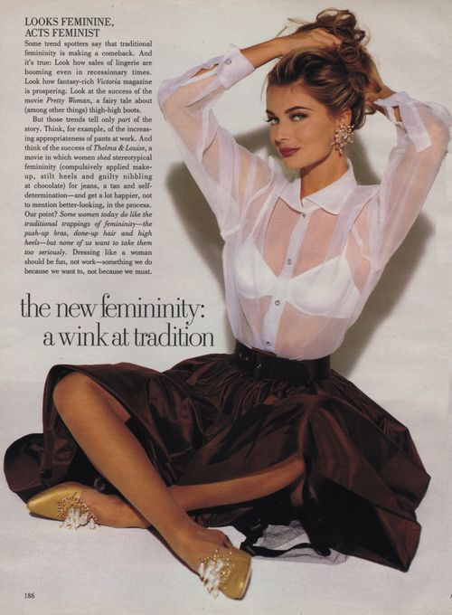 """Woman"", Vogue US, October 1991Photographer : Walter ChinModel : Paulina Porizkova"