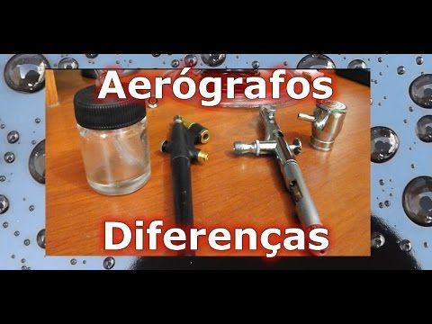 Noções Básicas sobre Aerógrafos: Micro Pintura, Diferenças entre Aerógrafos, Princípios de Uso - YouTube
