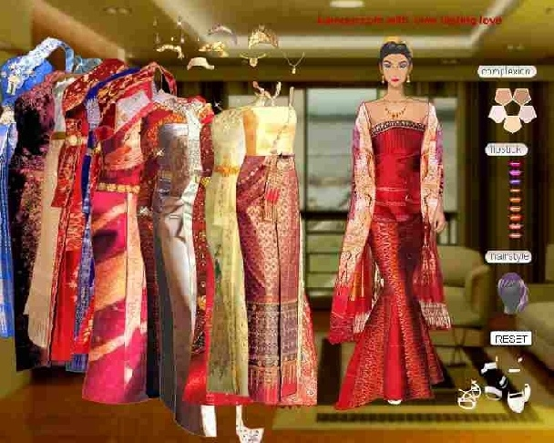 Fashion bride dress up