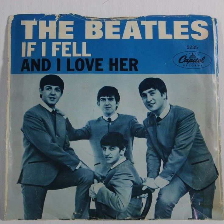 Beatles Rare 45 With Sleeve Quot If I Fell Quot And Quot I Love Her