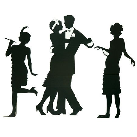 Guys and Dolls Silhouettes Kit-Roaring 20's Great Gatsby Prom Decorations