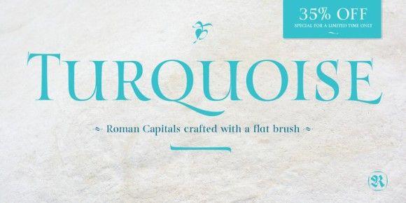 Turquoise (35% discount, 35,75€)   https://fontsdiscounts.com/turquoise-35-discount-3575e?utm_content=bufferd9bf9&utm_medium=social&utm_source=pinterest.com&utm_campaign=buffer