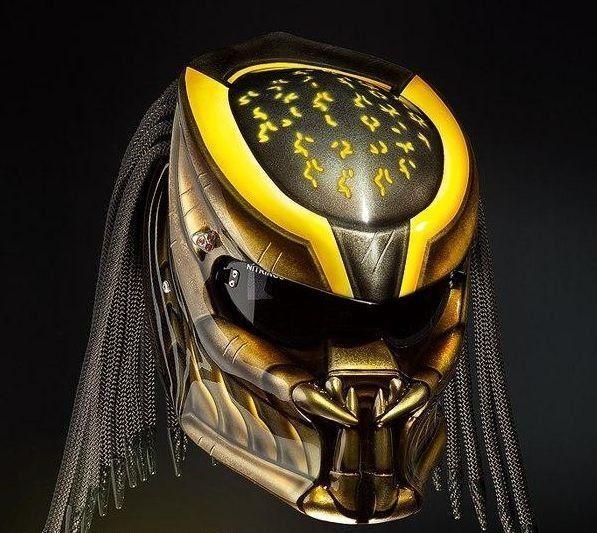Predator Helmet Street Fighter - Yellow #CellosHelmetCustom #Helmets