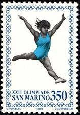 Stamp: Olympic Games- Moskou (San Marino) (Olympic Games 1980 - Moscow) Mi:SM 1217,Sn:SM 990,Un:SM 1061